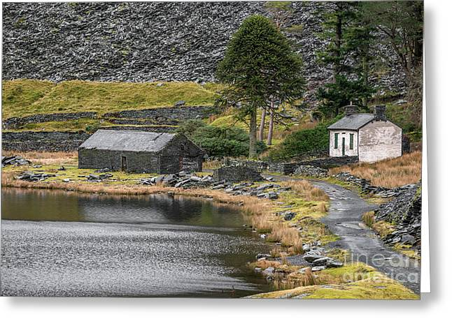 Greeting Card featuring the photograph Ruins At Cwmorthin by Adrian Evans