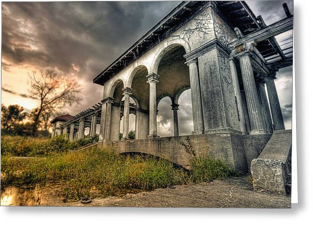 Ruins At Dusk Greeting Card by Ryan Heffron