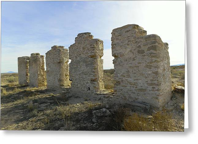 Ruins At Fort Craig New Mexico Greeting Card by Jeff Swan