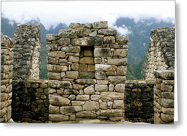 Ruins In A Lost City Greeting Card