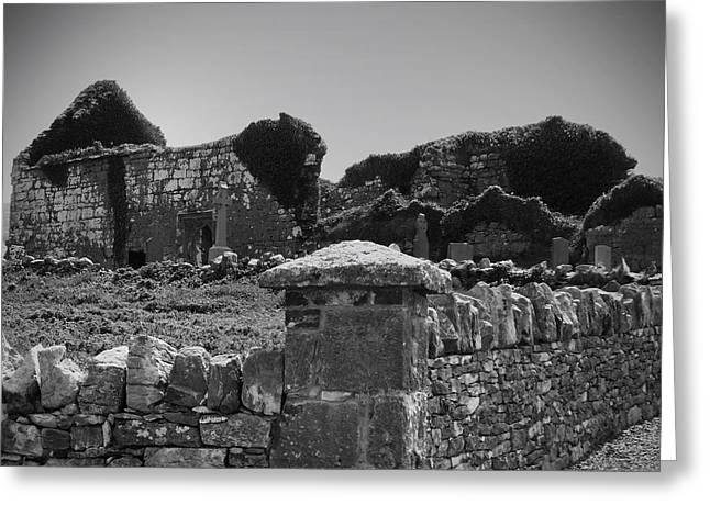 Ruins In The Burren County Clare Ireland Greeting Card by Teresa Mucha