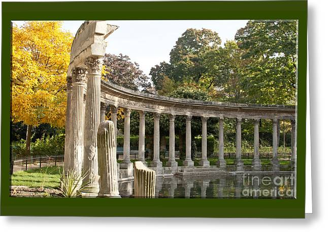 Greeting Card featuring the photograph Ruins In The Park by Victoria Harrington