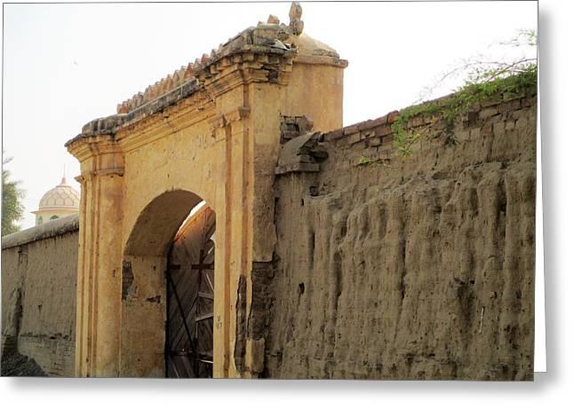 Ruins Of Daulat Palace. Greeting Card