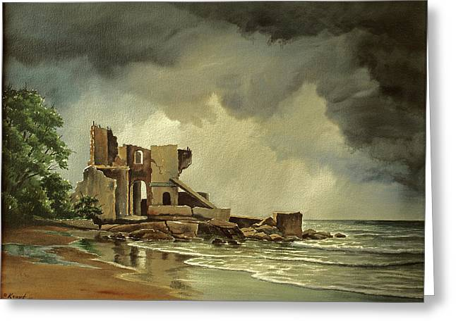 Ruins Near Kenosha Greeting Card by Paul Krapf
