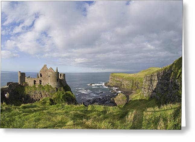 Ruins Of 13th Century Medieval Dunluce Greeting Card by Rich Reid