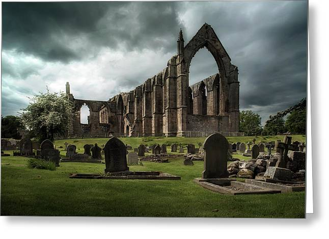 Ruins Of Bolton Abbey Greeting Card by Jaroslaw Blaminsky