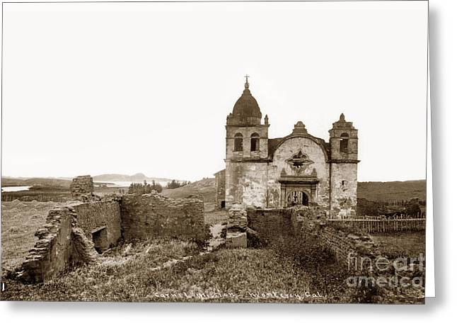 Ruins Of Carmel Mission, Monterey, Cal. Circa 1882 Greeting Card