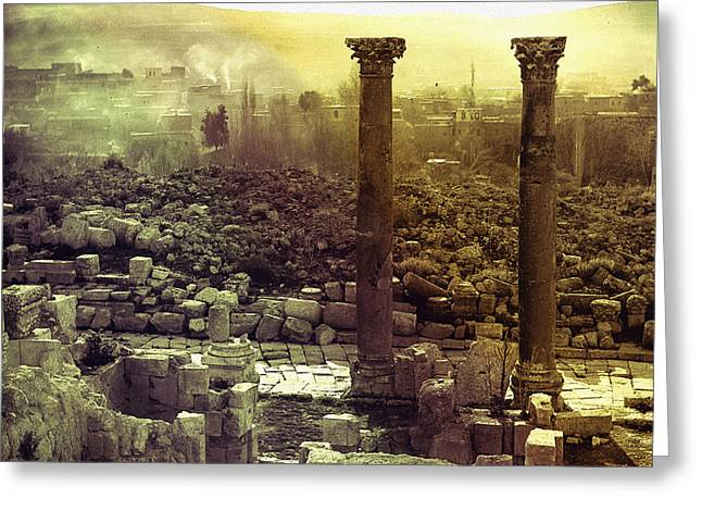 Greeting Card featuring the photograph Ruins Of Jurash by Robert G Kernodle