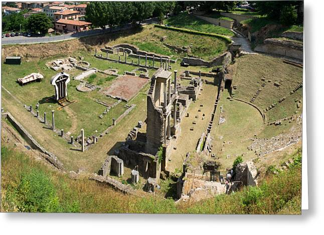 Ruins Of Roman Theater, Volterra Greeting Card