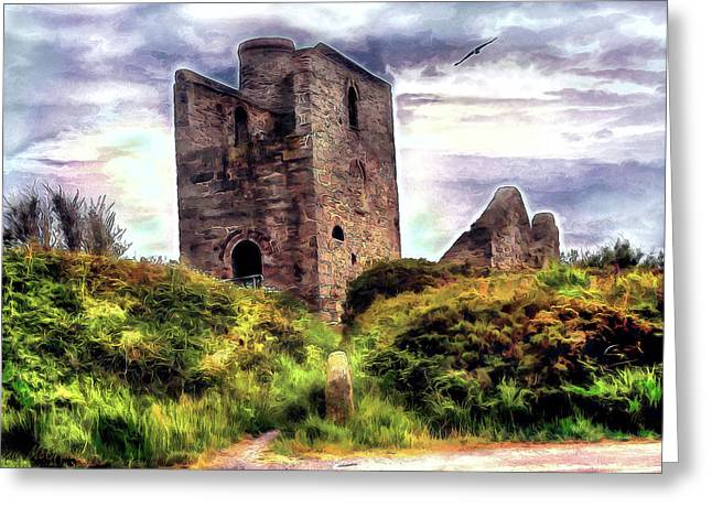 Ruins Of The Old Tin Mine Greeting Card