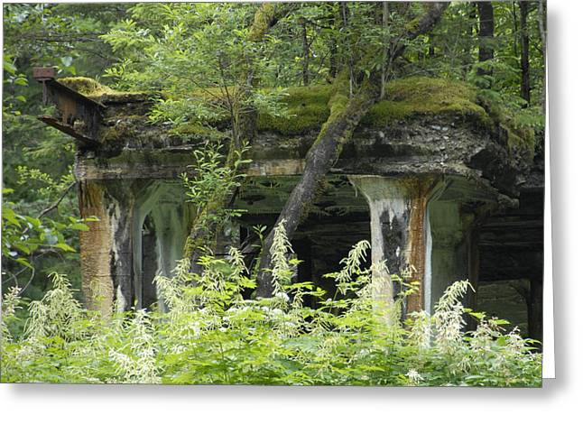 Ruins Of Treadwell Mines Greeting Card