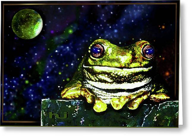 Ruler Of The Cosmos  Greeting Card