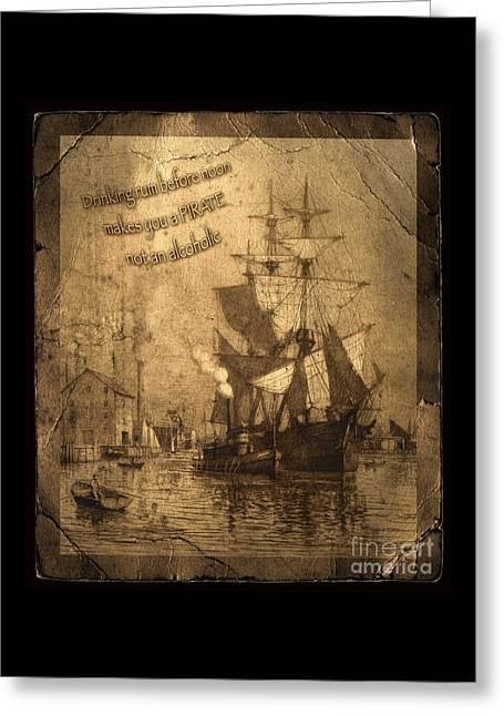 Rum Is The Reason Greeting Card by John Stephens