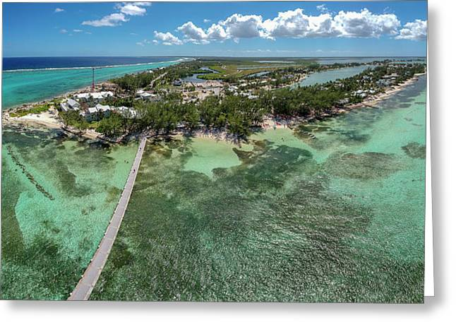 Greeting Card featuring the photograph Rum Point Beach Panoramic by Adam Romanowicz