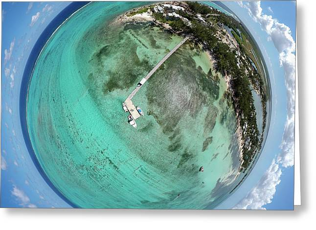 Greeting Card featuring the photograph Rum Point Little Planet by Adam Romanowicz