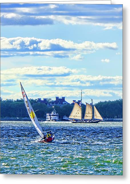 Greeting Card featuring the photograph Rum Runner by Steve Sahm