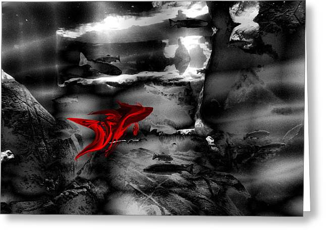 Rumble Fish To Dream Greeting Card by Abstract Angel Artist Stephen K