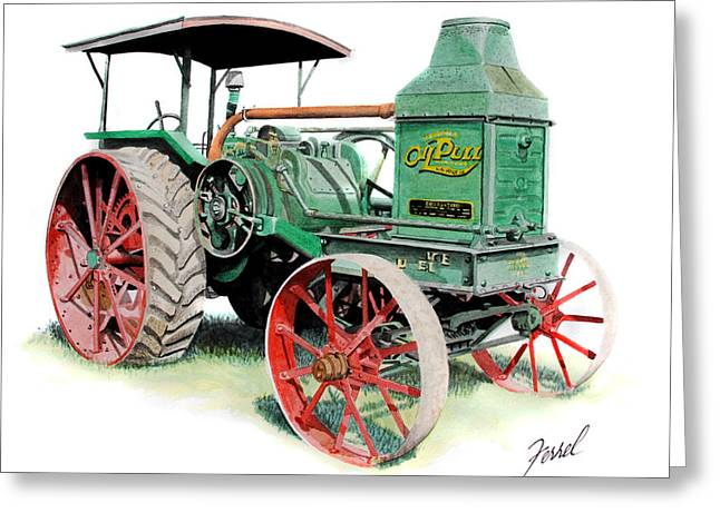 Rumely Oil Pull 2040 Greeting Card