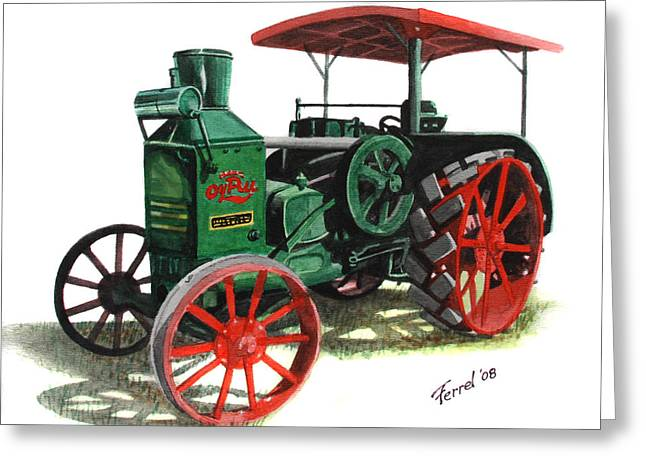 Rumely Oil Pull X Tractor Greeting Card