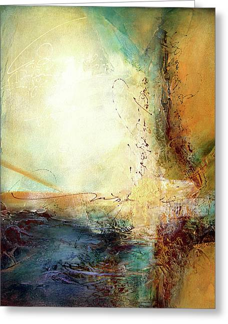 Rumi - Light Greeting Card by Jane Dill