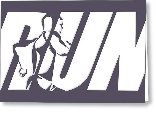 Run 4 Greeting Card by Joe Hamilton