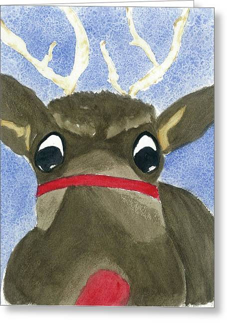 Run Run Rudolph Greeting Card