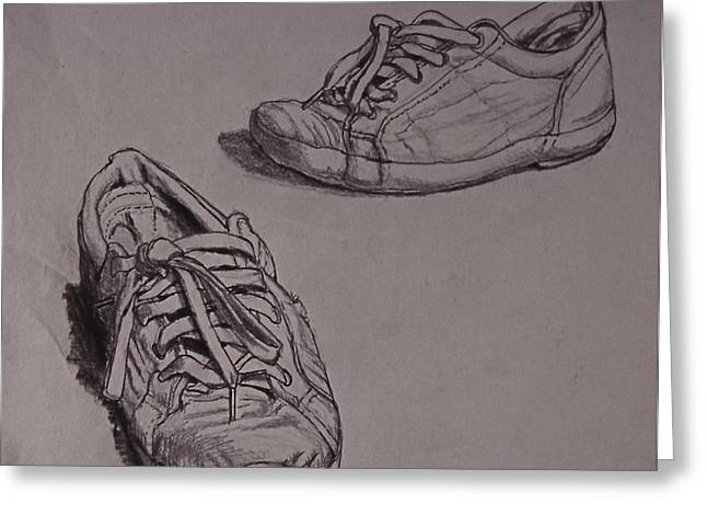 Runners Greeting Card by Chris  Riley