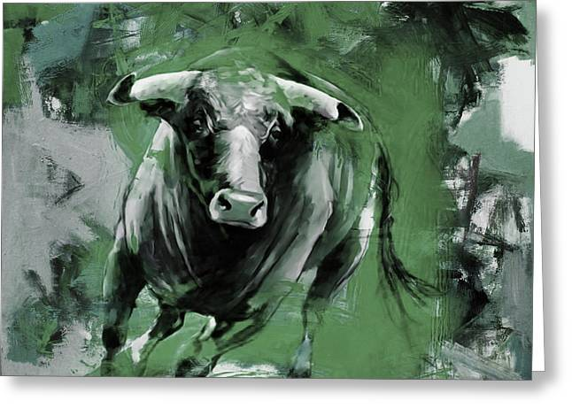 Running Bull 0043 Greeting Card by Gull G