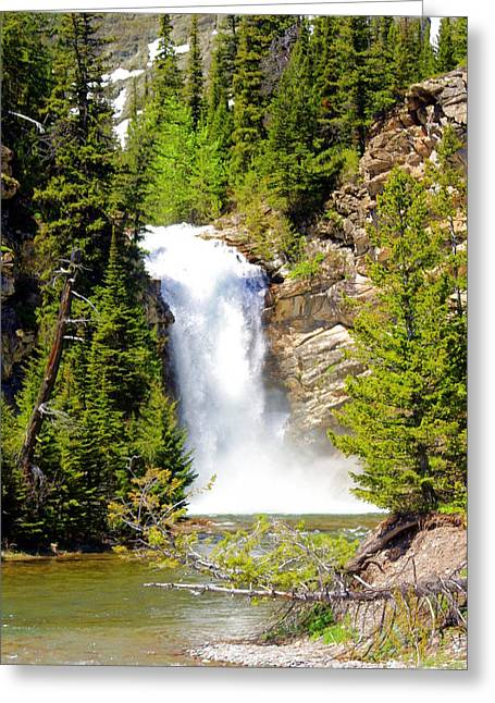 Running Eagle Falls Greeting Card