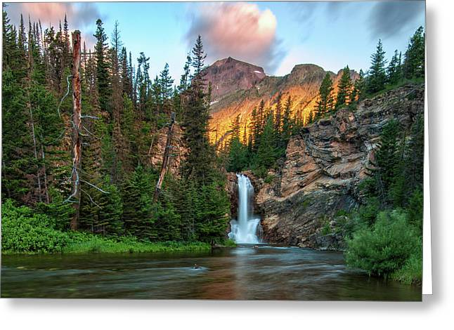 Running Eagle Falls - Montana  Greeting Card by Thomas Schoeller