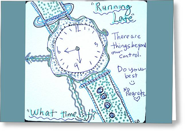 On Time Greeting Card