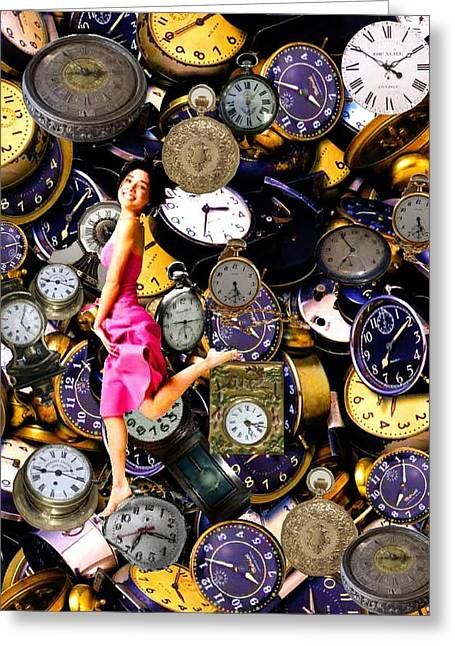 Running Out Of Time Greeting Card by Animi Dawn