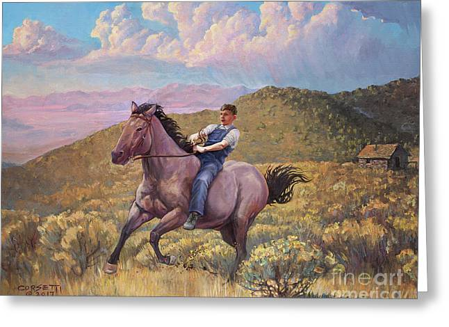 Runaway Roan Greeting Card