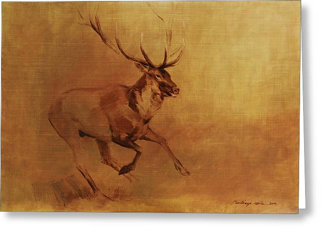 Running Stag Greeting Card