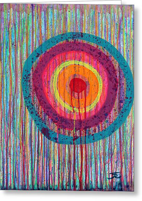 Running Target Greeting Card by Tommy Reynolds