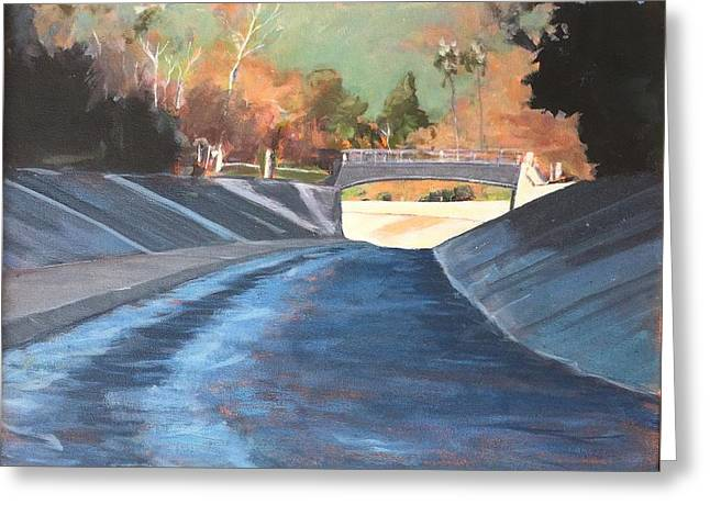 Running The Arroyo, Wet Greeting Card