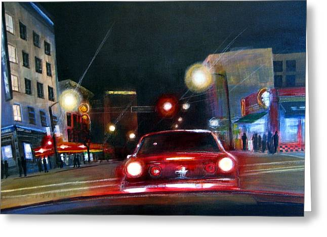 Running The Red Light Greeting Card by Victoria Heryet
