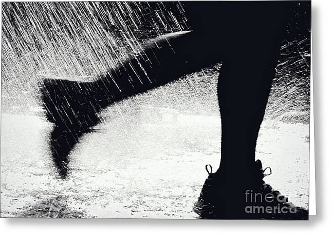 Running Through The Spray  Greeting Card by Kathleen K Parker