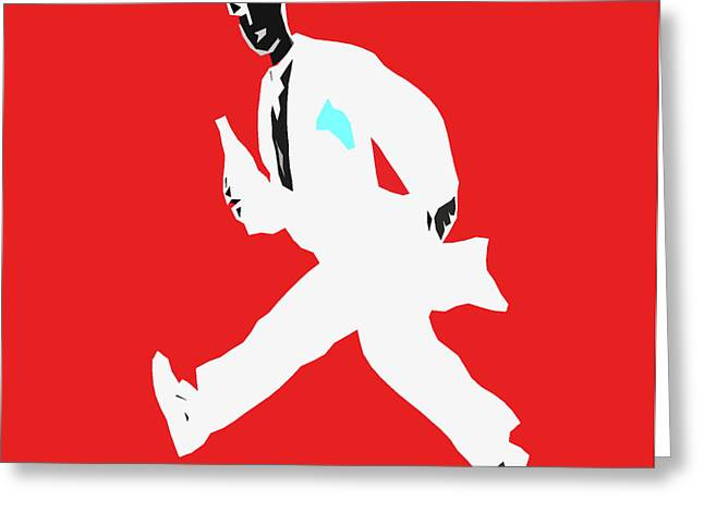 Running Waiter Greeting Card by James Hill