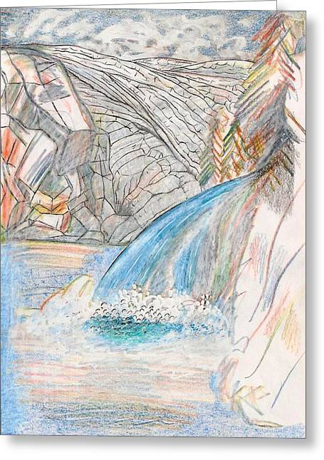 Runoff Greeting Card by Al Goldfarb