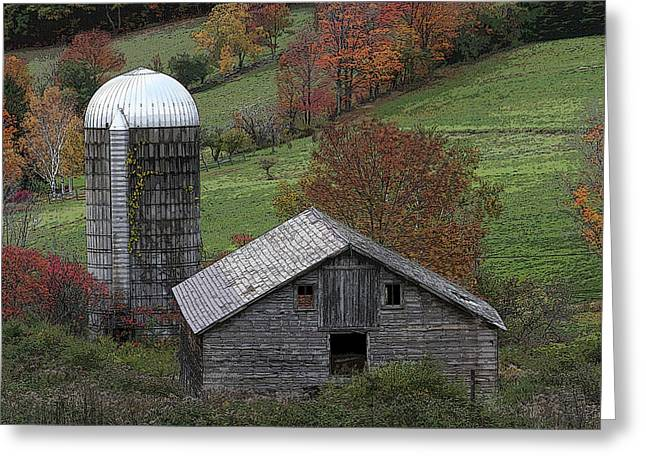 Rupert Mountain Face Barn Greeting Card