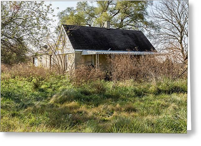 Rural Abandonment. Greeting Card