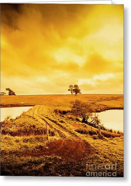 Rural Australia Farm Crossing Greeting Card by Jorgo Photography - Wall Art Gallery