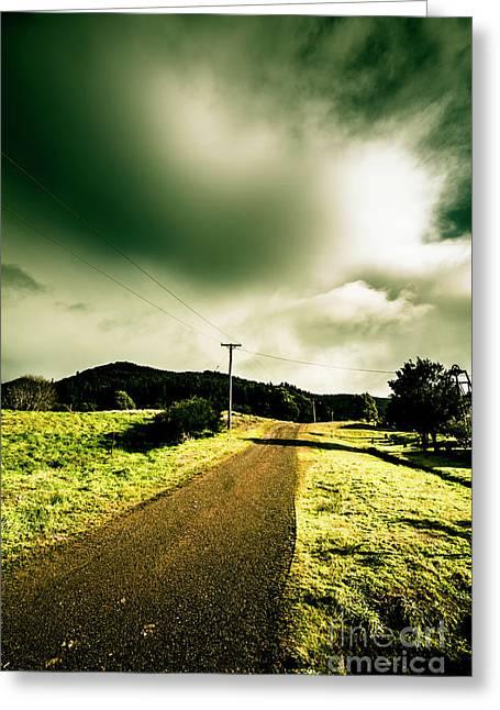 Rural Australia Lane Landscape Greeting Card by Jorgo Photography - Wall Art Gallery