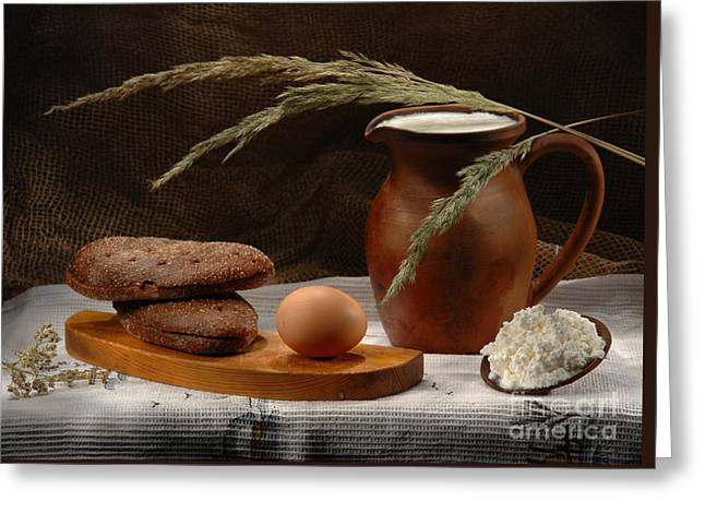 Rural Breakfast Greeting Card by Irina No