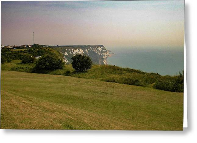 Rural Coastline, Folkestone, Kent, England Greeting Card