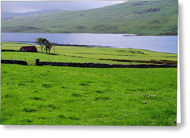 Rural Countryside With Lake, Ireland Greeting Card by Panoramic Images