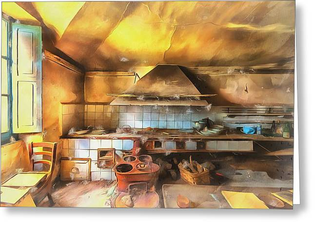 Greeting Card featuring the photograph Rural Culinary Atmosphere Nr 2 - Atmosfera Culinaria Rurale IIi Paint by Enrico Pelos