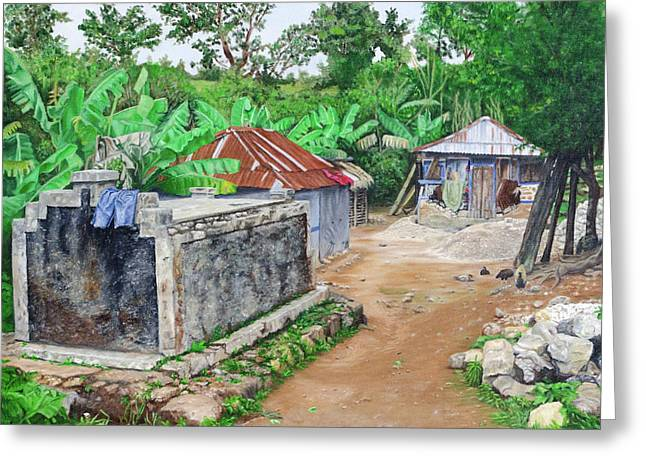 Rural Haiti - A Study In Poignancy Greeting Card