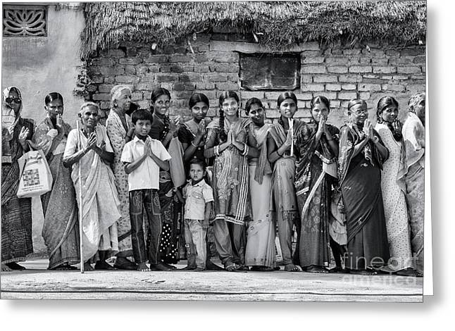 Rural Indian Villagers Greeting Card